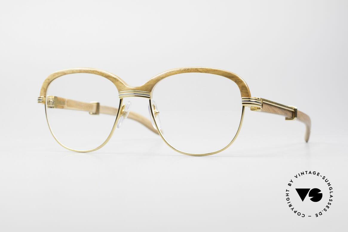 Glasses Cartier Malmaison Bubinga Precious Wood Frame | Vintage ...