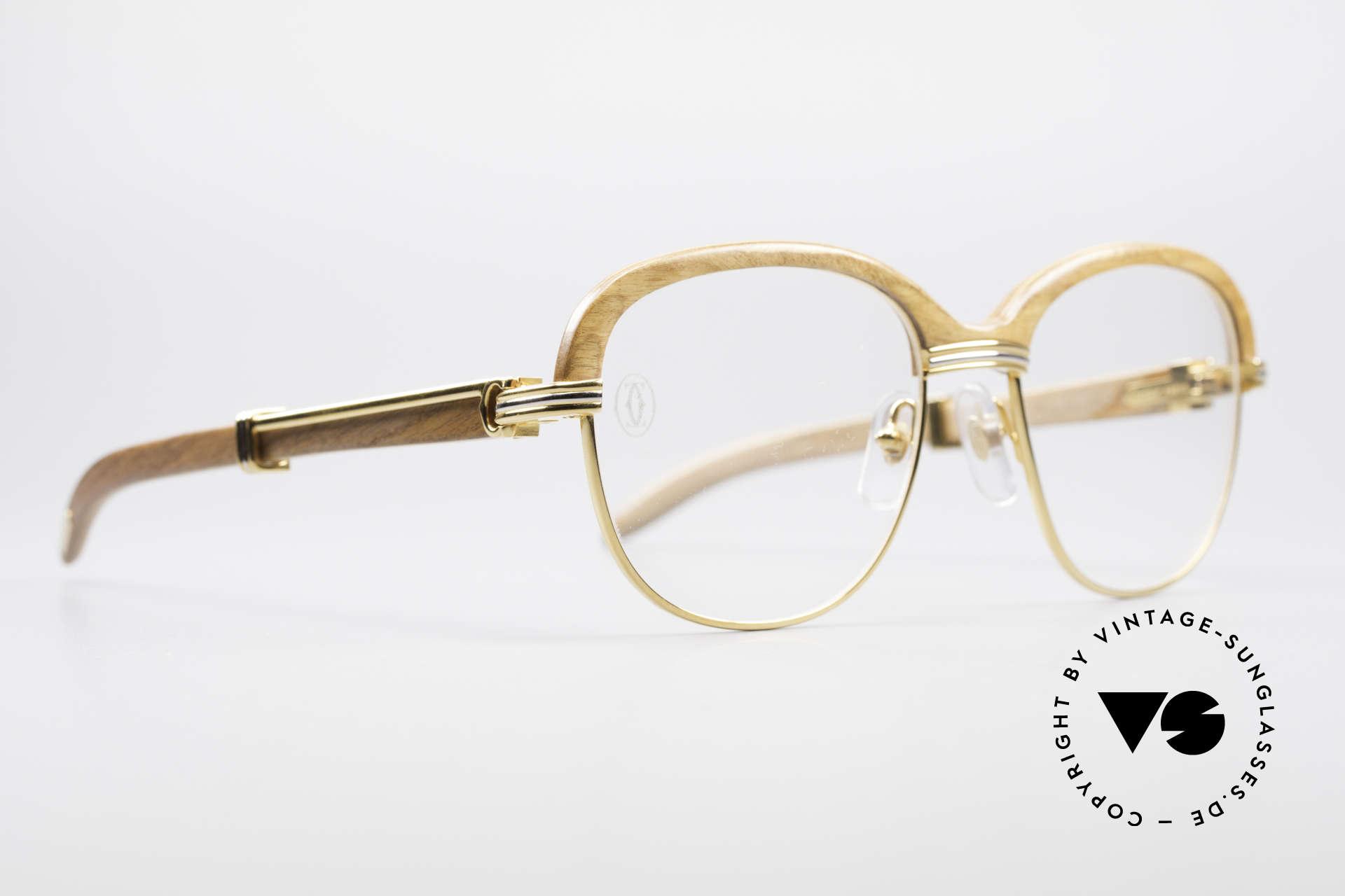 4b2bb737ef26 Glasses Cartier Malmaison Bubinga Precious Wood Frame