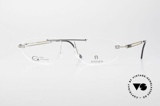Aigner EA115 Gold Plated Rimless Frame Details