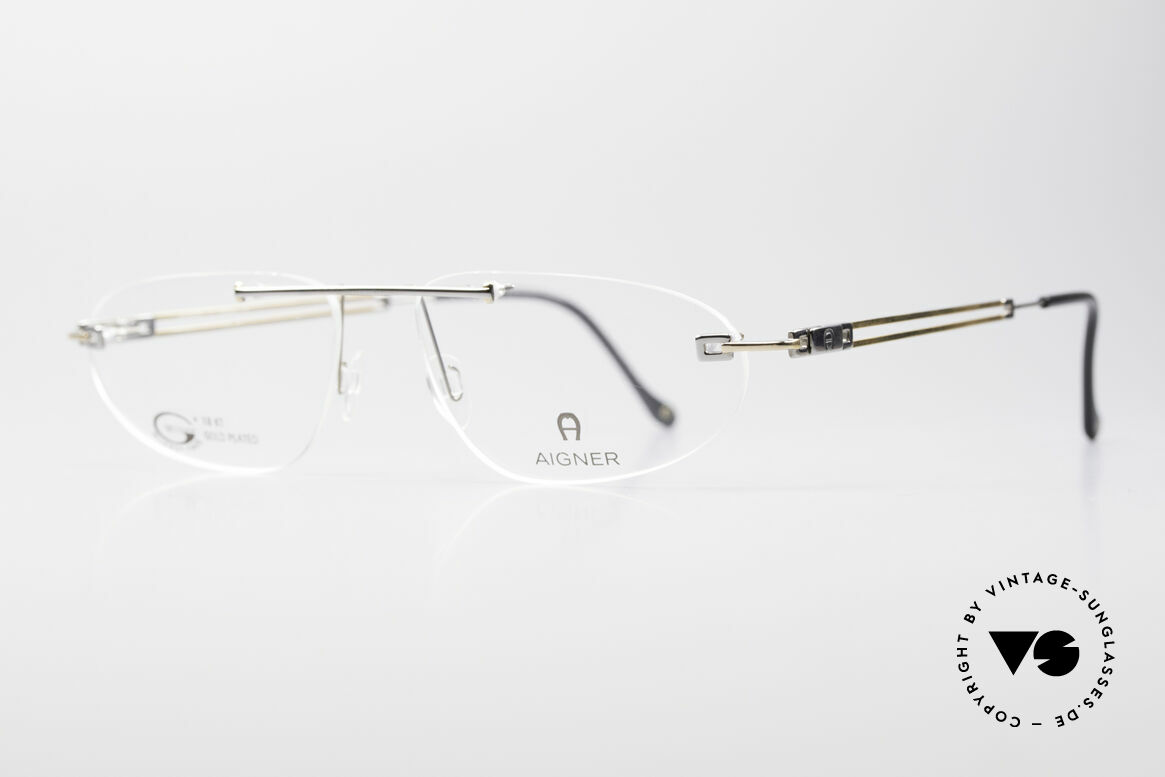 Aigner EA115 Gold Plated Rimless Frame