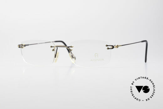 Aigner EA360 Rimless Vintage Glasses Details