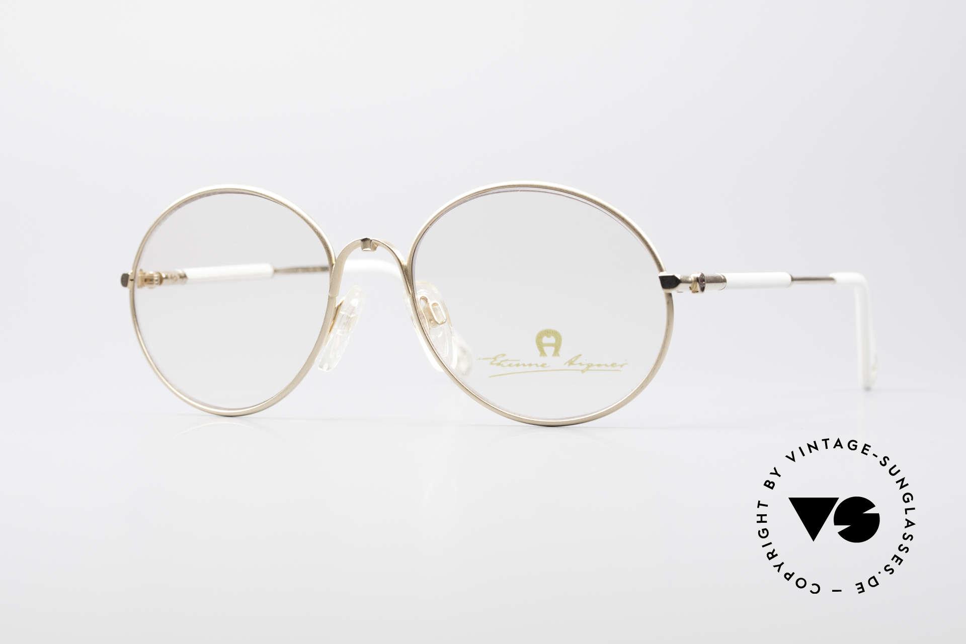 Aigner EA13 Small Round 80's Eyeglasses, Etienne Aigner vintage designer glasses of the 80s, Made for Women