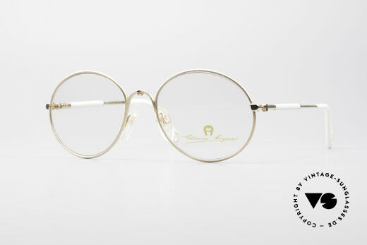 Aigner EA13 Small Round 80's Eyeglasses Details