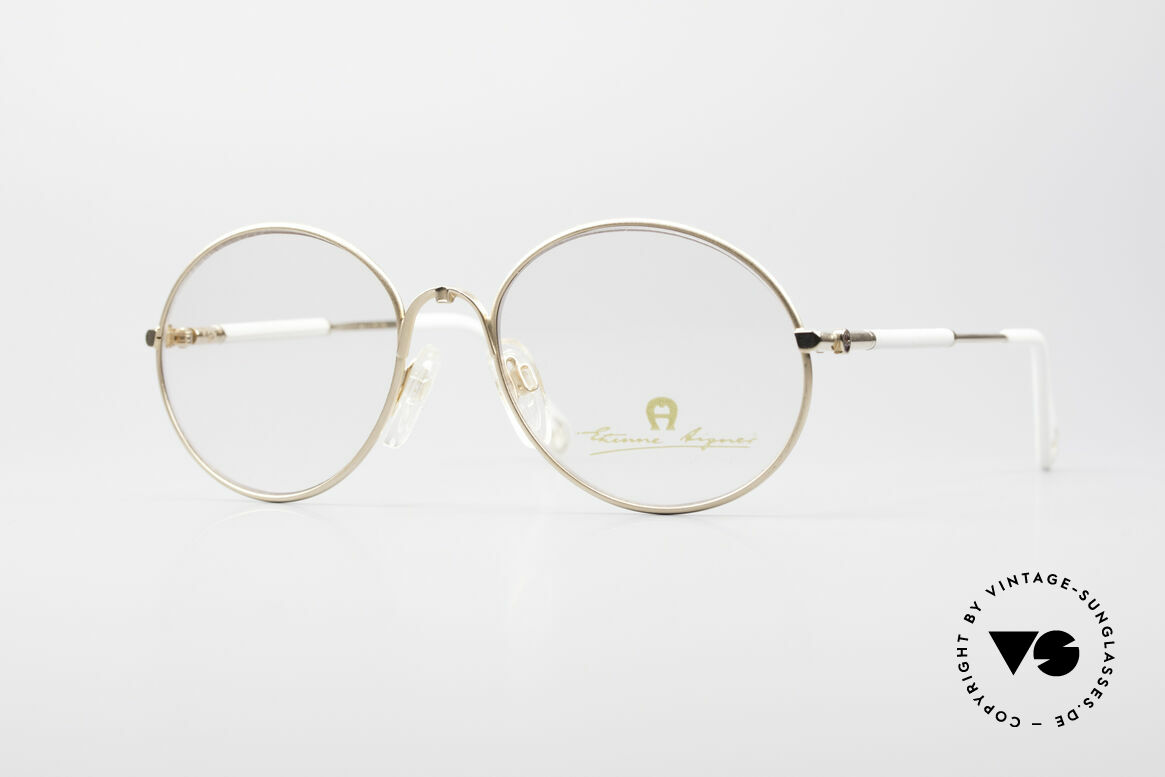 Aigner EA13 Small Round 80's Eyeglasses, Etienne Aigner vintage designer glasses of the 80s, Made for Women