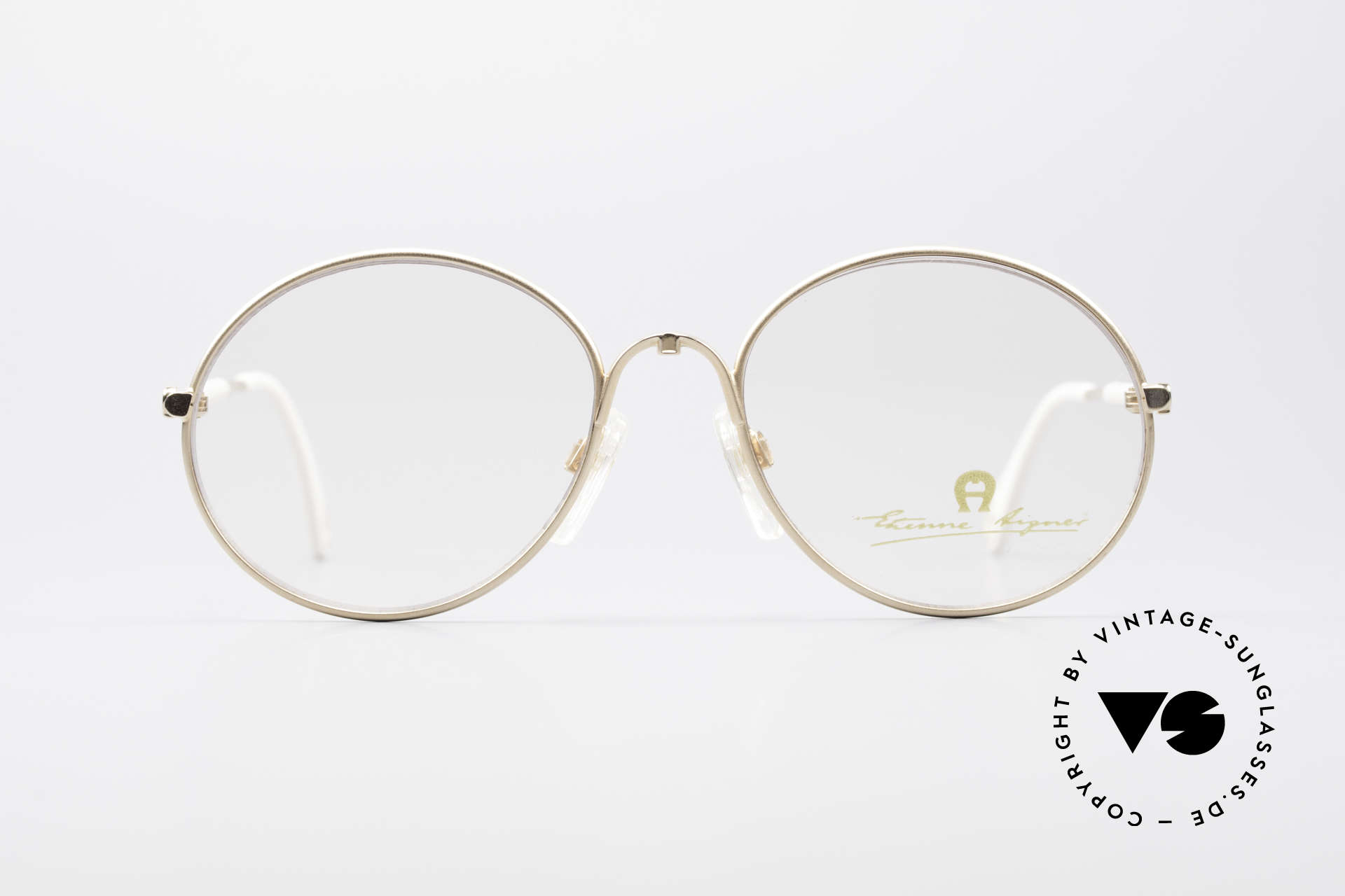 Aigner EA13 Small Round 80's Eyeglasses, round frame in SMALL size 53/18 (120mm width)!, Made for Women