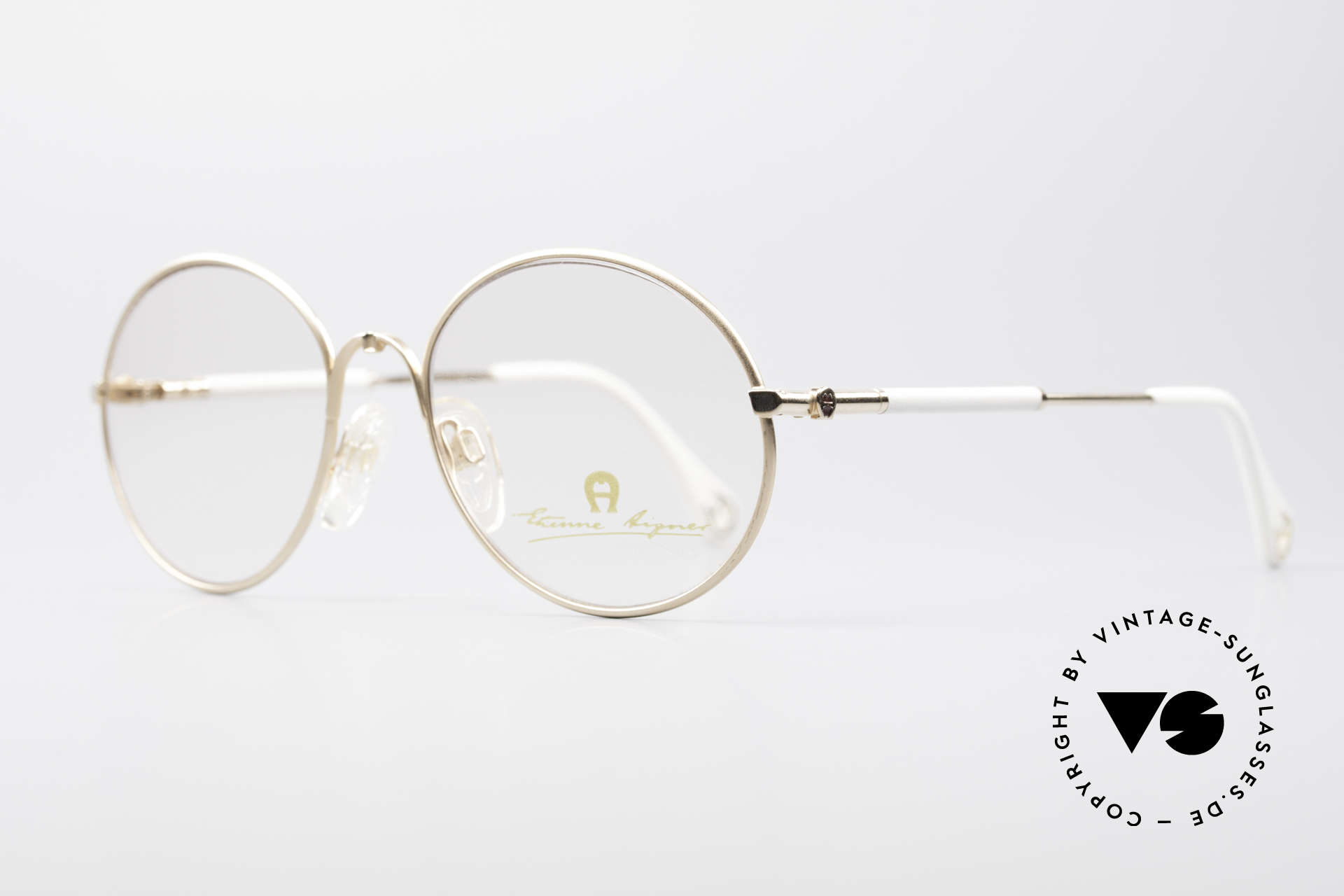 Aigner EA13 Small Round 80's Eyeglasses, true luxury vintage eyewear - just precious & rare, Made for Women