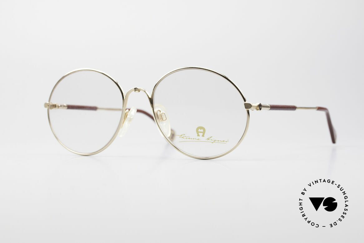 Aigner EA13 Round 80's Luxury Glasses, Etienne Aigner vintage designer glasses of the 80s, Made for Men and Women