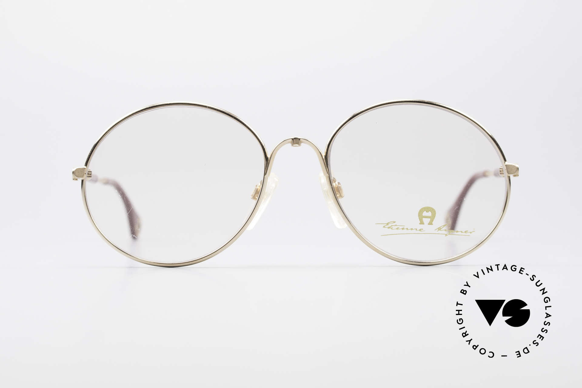 Aigner EA13 Round 80's Luxury Glasses, round unisex frame in small / medium size 53/18, Made for Men and Women