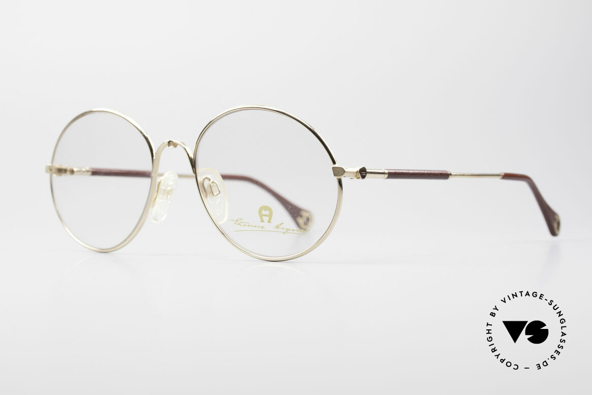 Aigner EA13 Round 80's Luxury Glasses, true luxury vintage eyewear - just precious & rare, Made for Men and Women