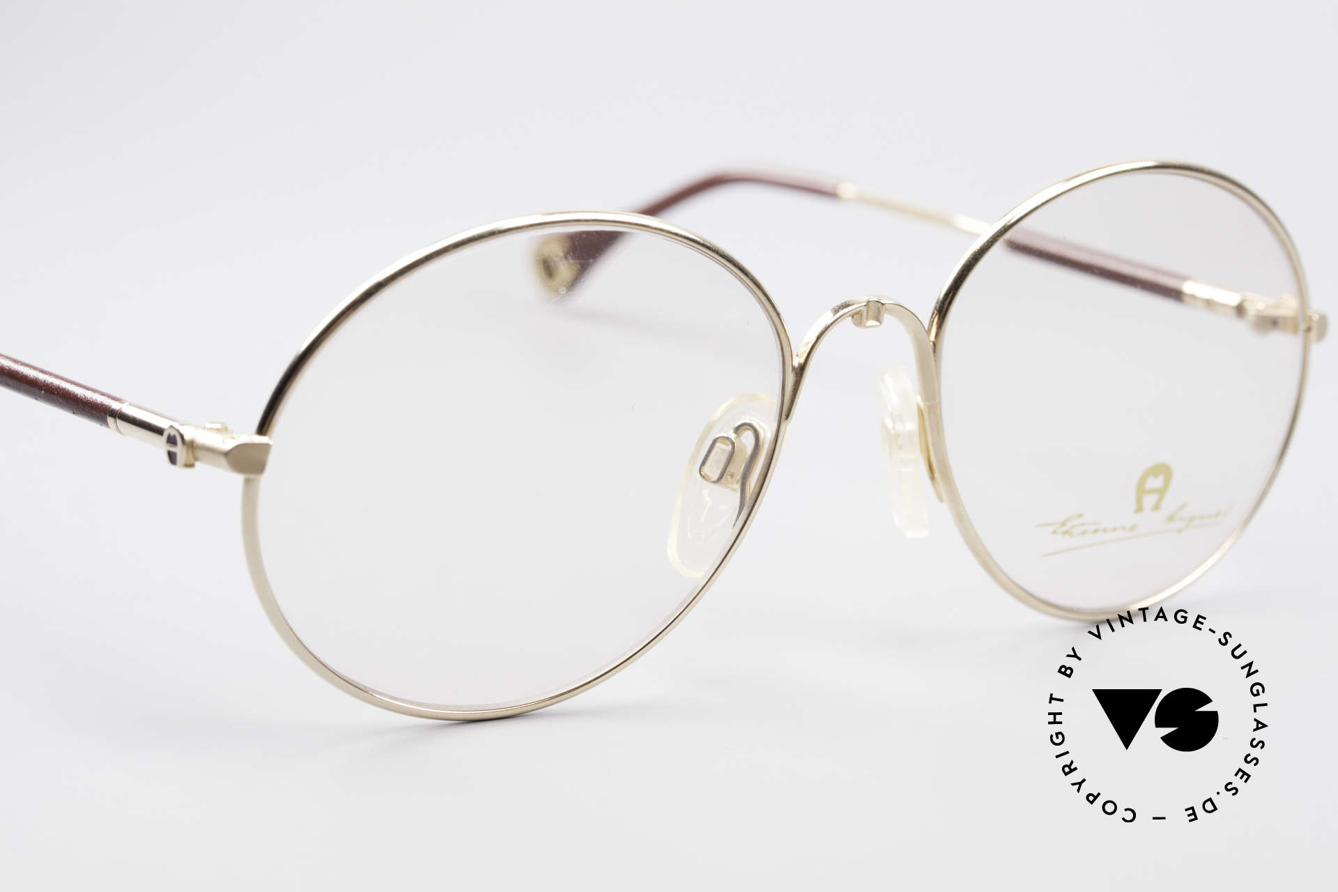 Aigner EA13 Round 80's Luxury Glasses, never worn (like all our rare 80's Aigner eyeglasses), Made for Men and Women