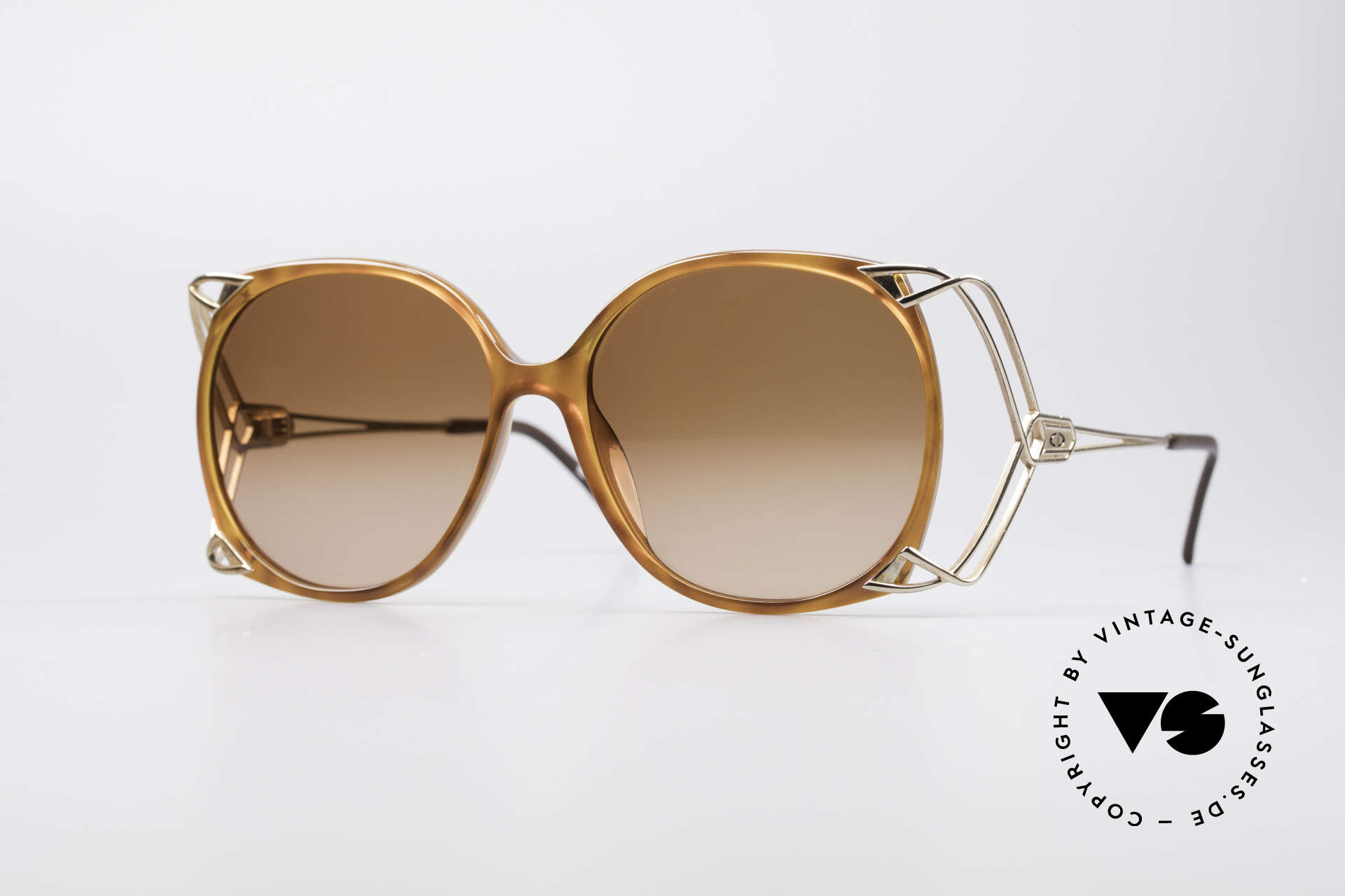 Christian Dior 2616 80's Ladies Sunglasses XXL, flashy DIOR oversized sunglasses of the early 80's, Made for Women