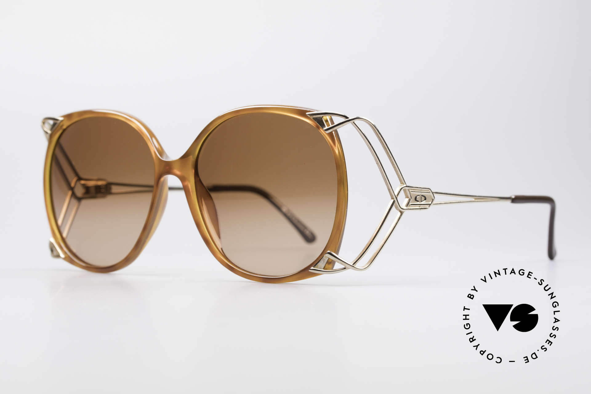 Christian Dior 2616 80's Ladies Sunglasses XXL, pure designer sunglasses - just CHIC and FANCY!, Made for Women