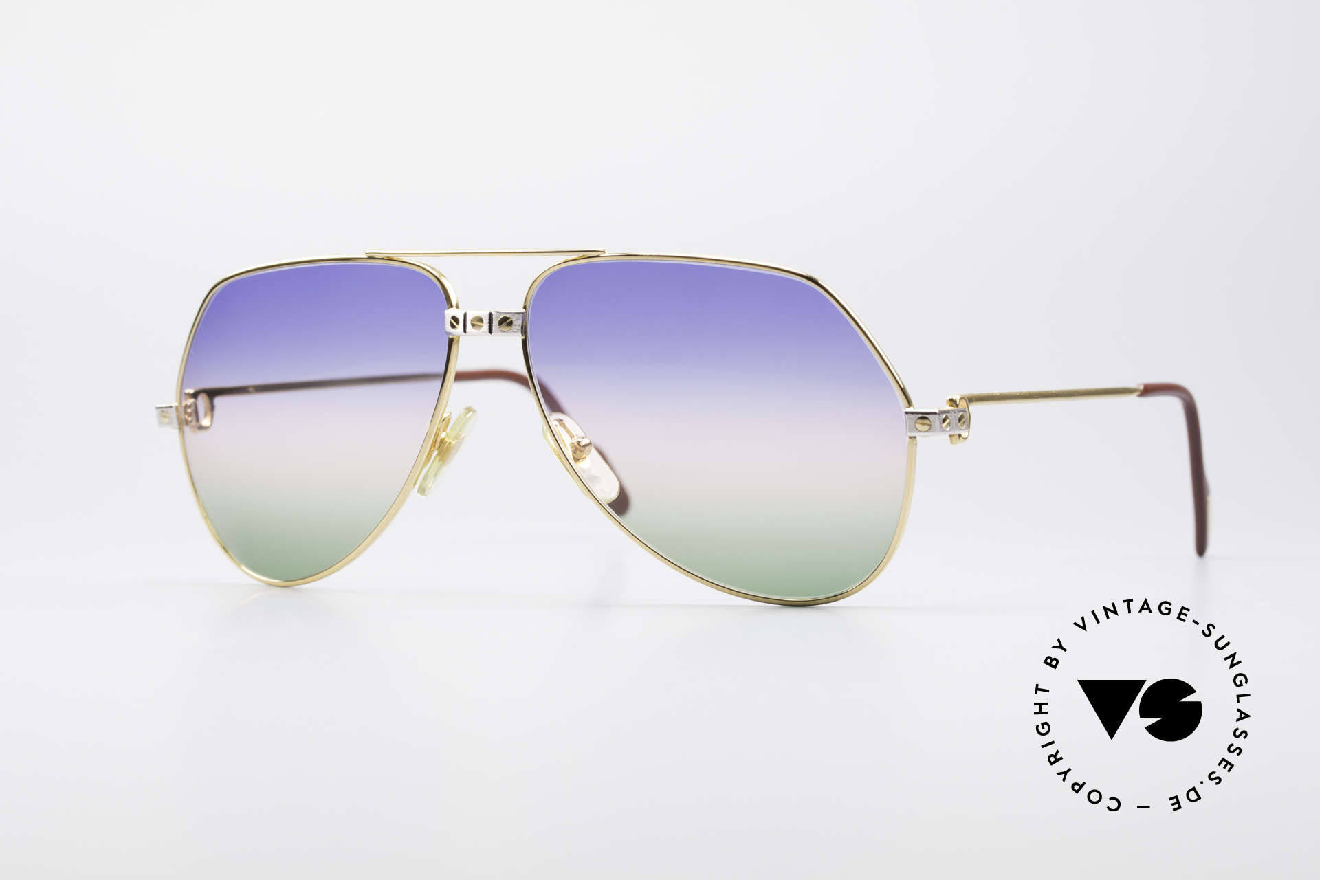 Cartier Vendome Santos - L Rare Luxury 80's Sunglasses, Vendome = the most famous eyewear design by CARTIER, Made for Men