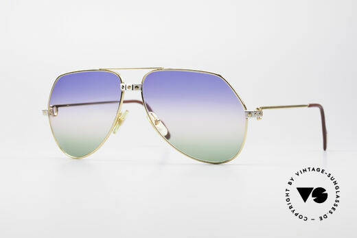 Cartier Vendome Santos - L Rare Luxury 80's Sunglasses Details