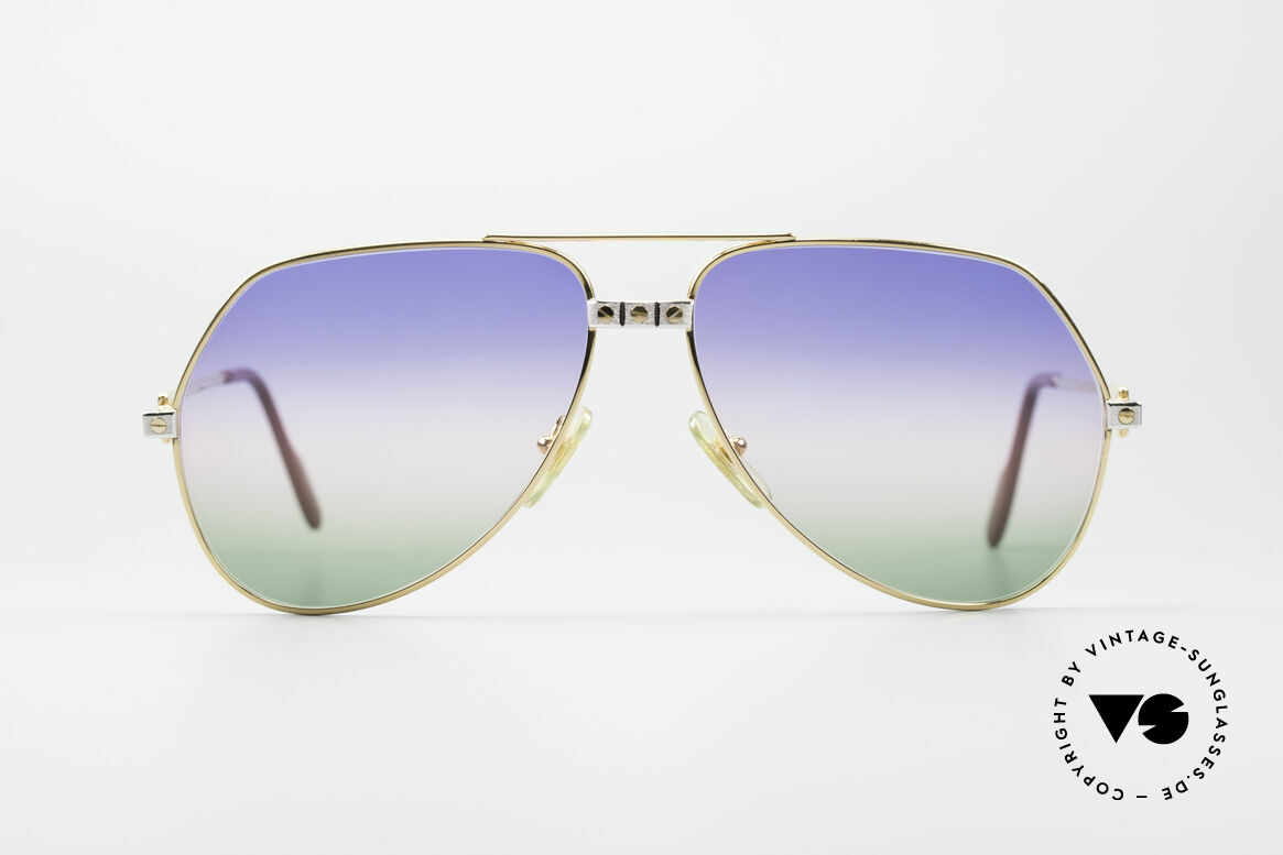 "Cartier Vendome Santos - L Rare Luxury 80's Sunglasses, mod. ""Vendome"" was launched in 1983 & made till 1997, Made for Men"