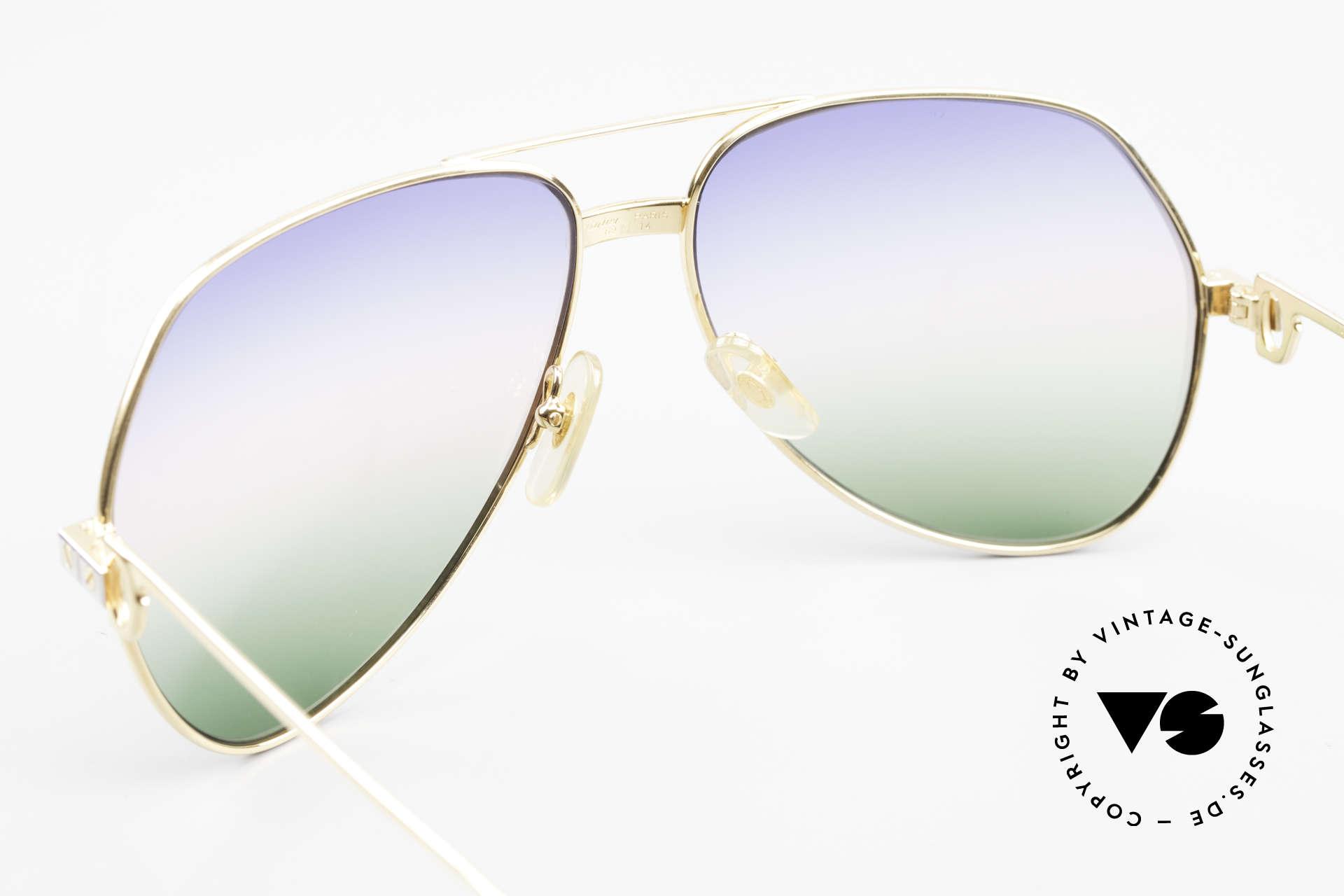 Cartier Vendome Santos - L Rare Luxury 80's Sunglasses, worn by actor Christopher Walken (JAMES BOND, 1985), Made for Men
