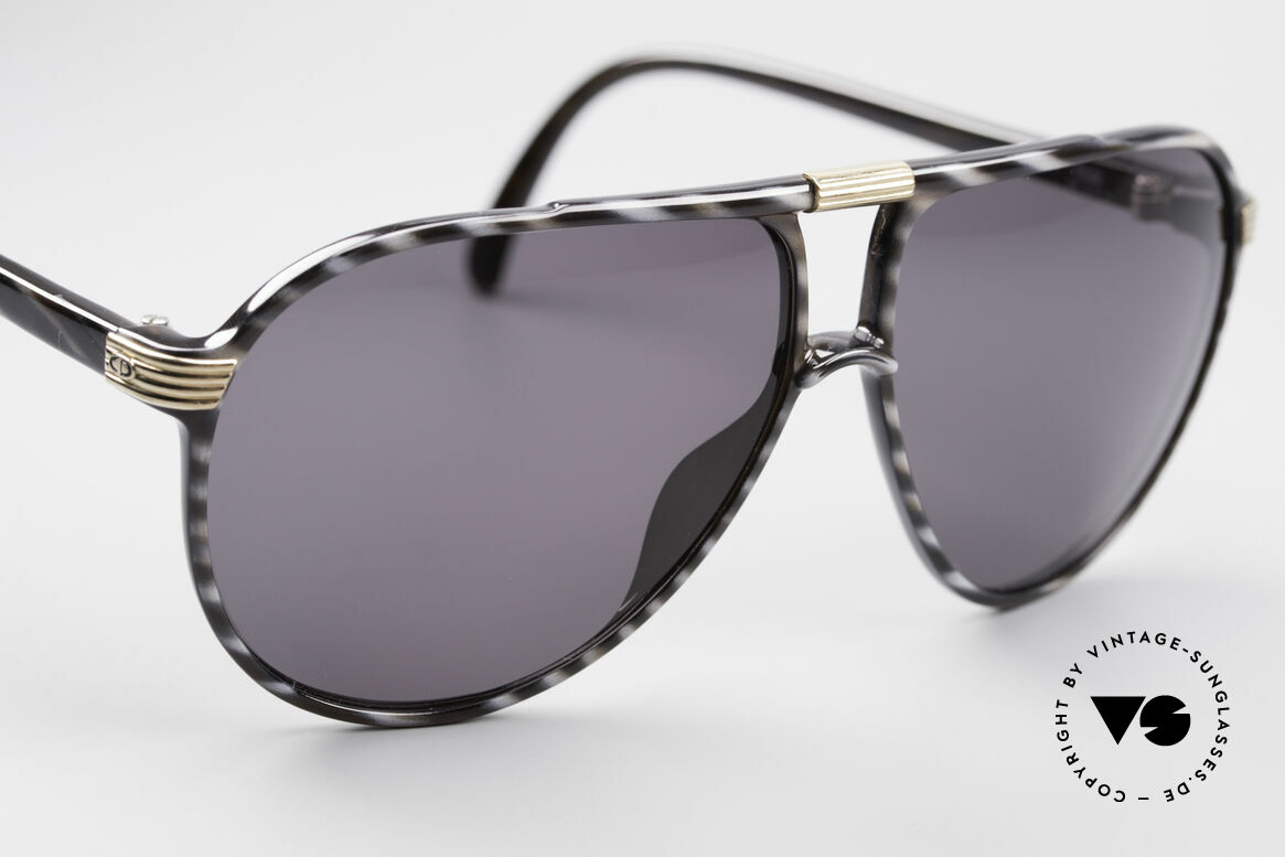 Christian Dior 2300 80's Monsieur Sunglasses, dark-gray tinted sun lenses (100% UV protection), Made for Men