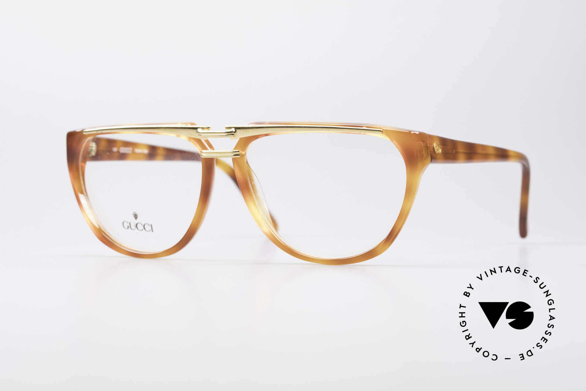 Gucci 2321 Ladies Designer Glasses 80's, vintage 80's eyeglasses by GUCCI with tortoise look, Made for Women