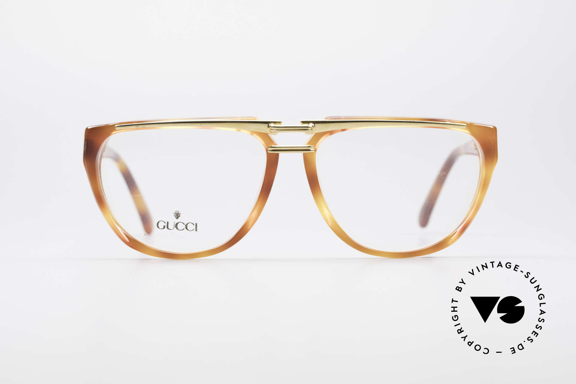 Gucci 2321 Ladies Designer Glasses 80's, with the famous Gucci symbol (2 connected stirrups), Made for Women