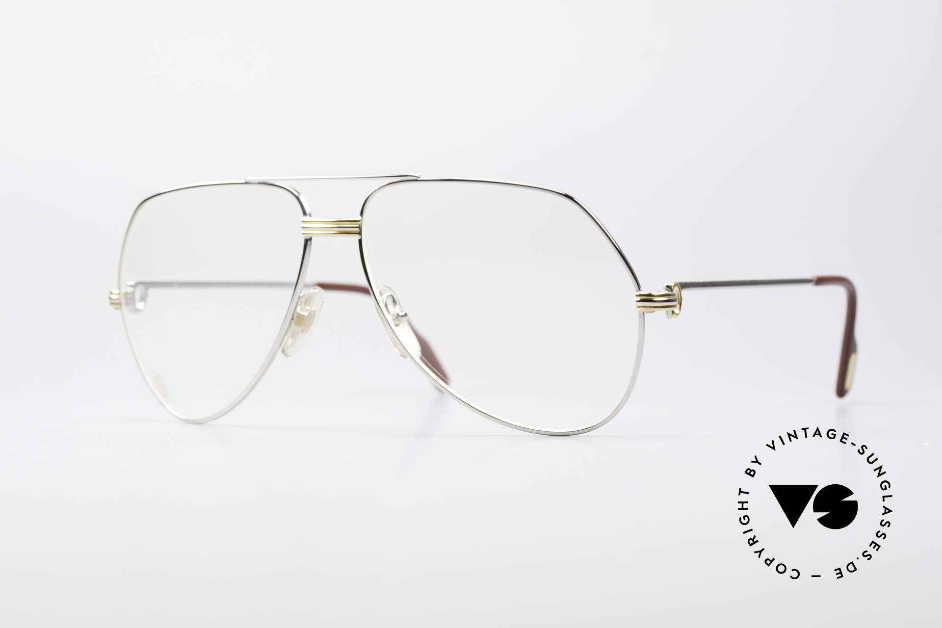 Cartier Vendome LC - L Platinum Finish Frame Luxury, Vendome = the most famous eyewear design by CARTIER, Made for Men