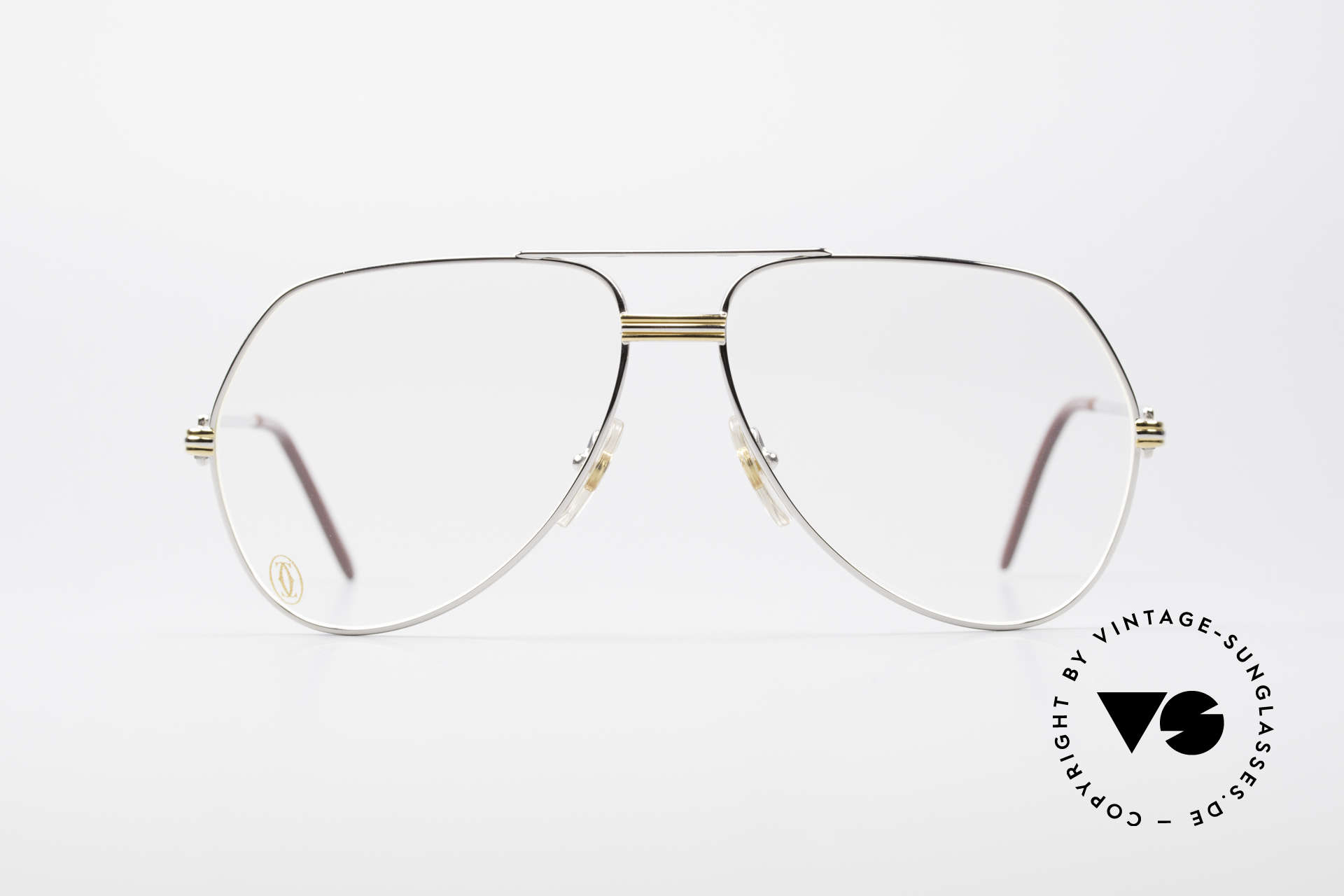 """Cartier Vendome LC - L Platinum Finish Frame Luxury, mod. """"Vendome"""" was launched in 1983 & made till 1997, Made for Men"""