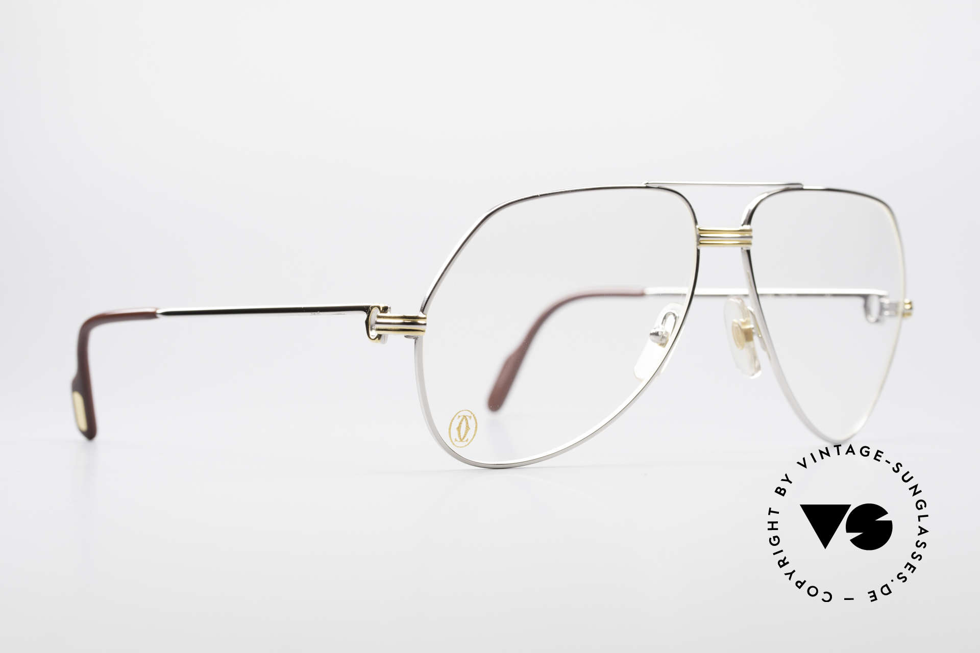 Cartier Vendome LC - L Platinum Finish Frame Luxury, this pair (with L.Cartier decor) in LARGE size 62-14,140, Made for Men