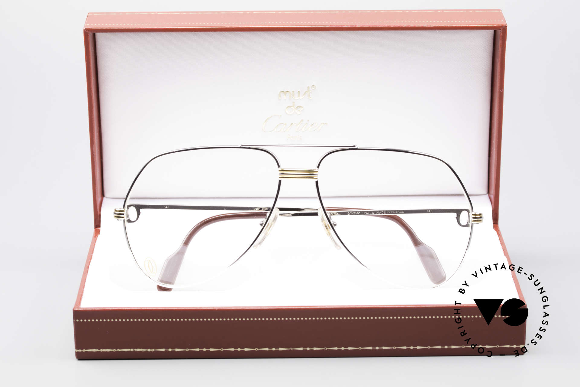 Cartier Vendome LC - L Platinum Finish Frame Luxury, unworn rarity with orig. packing; hard to find these days, Made for Men