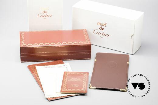 Cartier Vendome LC - L Platinum Finish Frame Luxury, NO retro eyeglasses, but an authentic vintage ORIGINAL, Made for Men