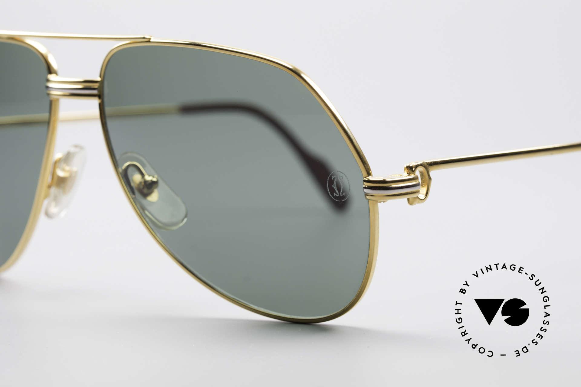 Cartier Vendome LC - M David Bowie Sunglasses, luxury frame (22ct) with ORIGINAL sun lenses with logo, Made for Men