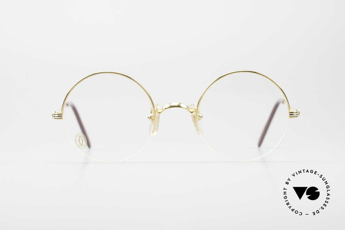 Cartier Mayfair - S Luxury Round Eyeglasses, noble CARTIER designer model from the 90's, Made for Men and Women