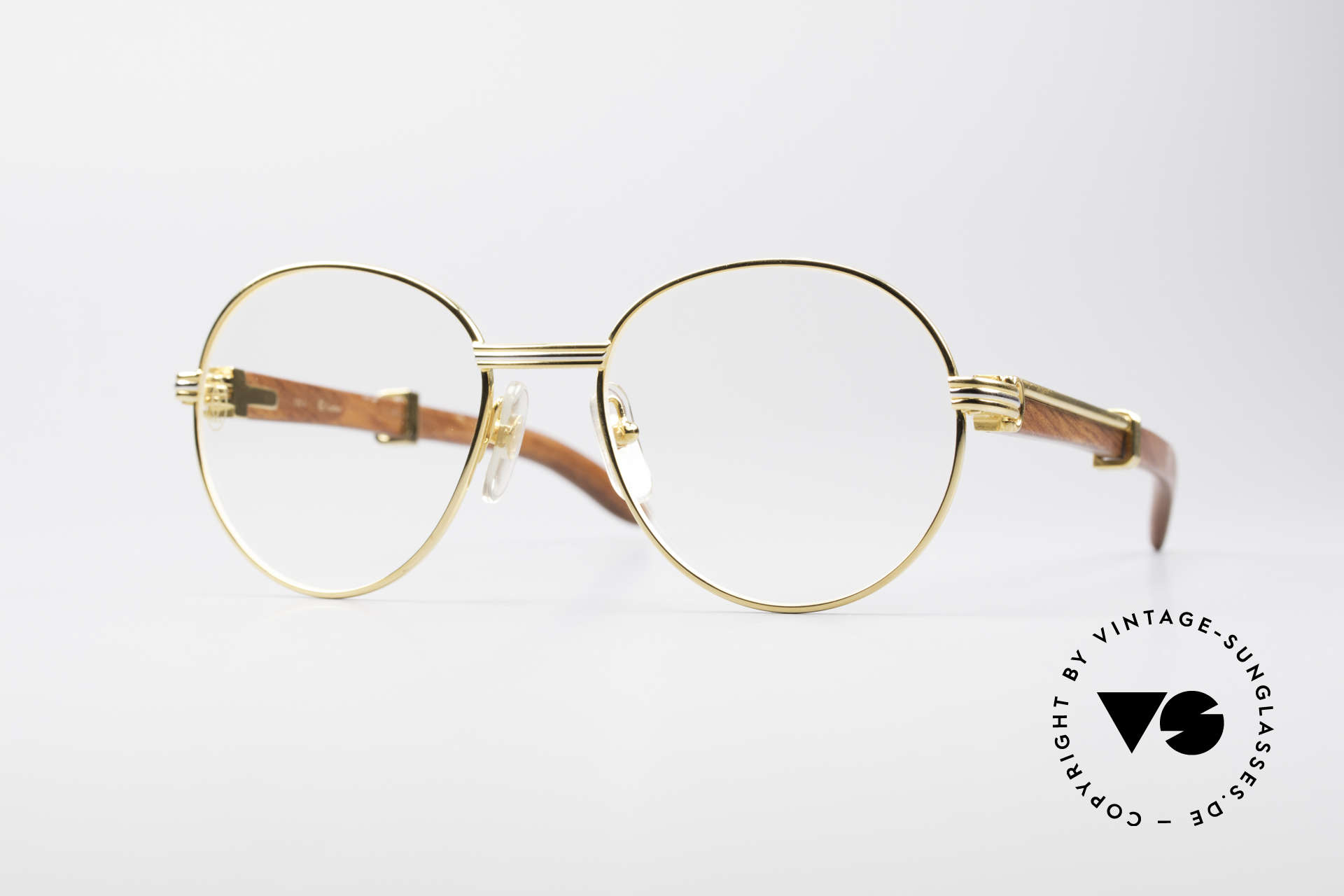 424a856130 Glasses Cartier Bagatelle Bubinga Precious Wood Frame
