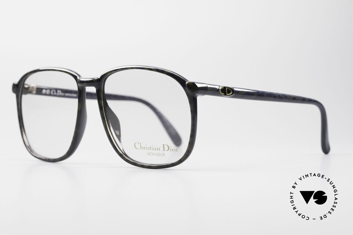 Christian Dior 2341 80's Optyl Monsieur Glasses, very noble men's frame with discreet coloring/pattern, Made for Men