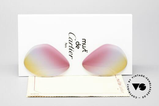 Cartier Vendome Lenses - M Tricolored Sunrise Lenses Details