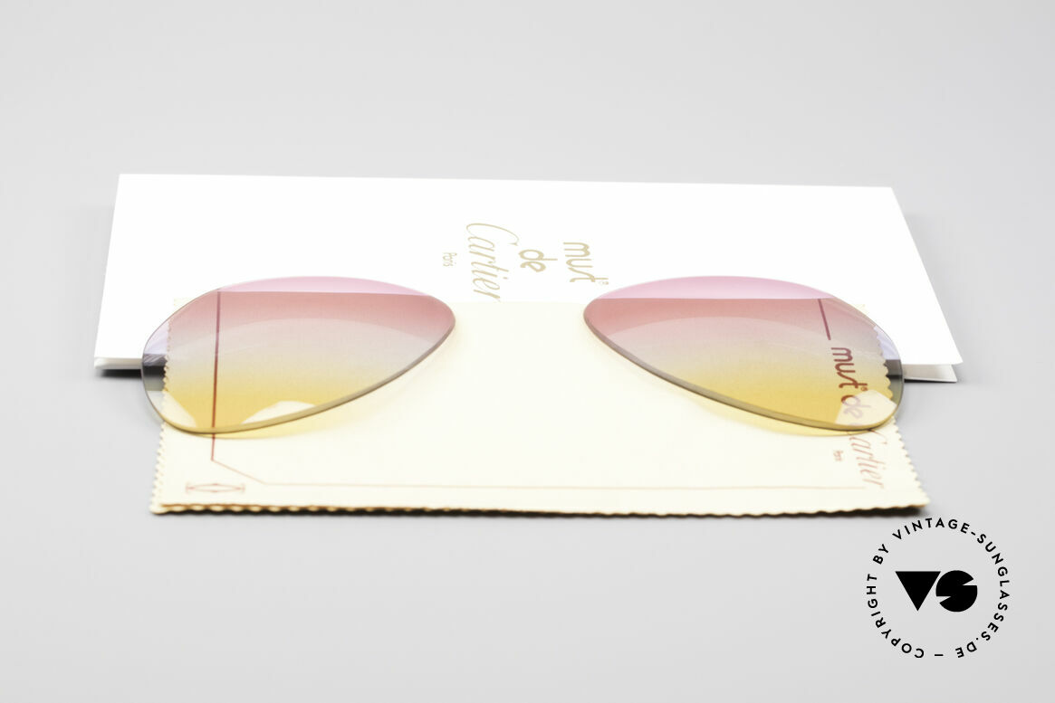 Cartier Vendome Lenses - M Tricolored Sunrise Lenses