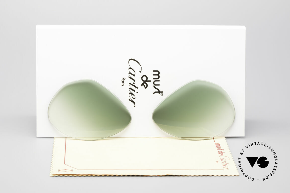 Cartier Vendome Lenses - M Sun Lenses Green Gradient, replacement lenses for Cartier mod. Vendome 59mm size, Made for Men and Women