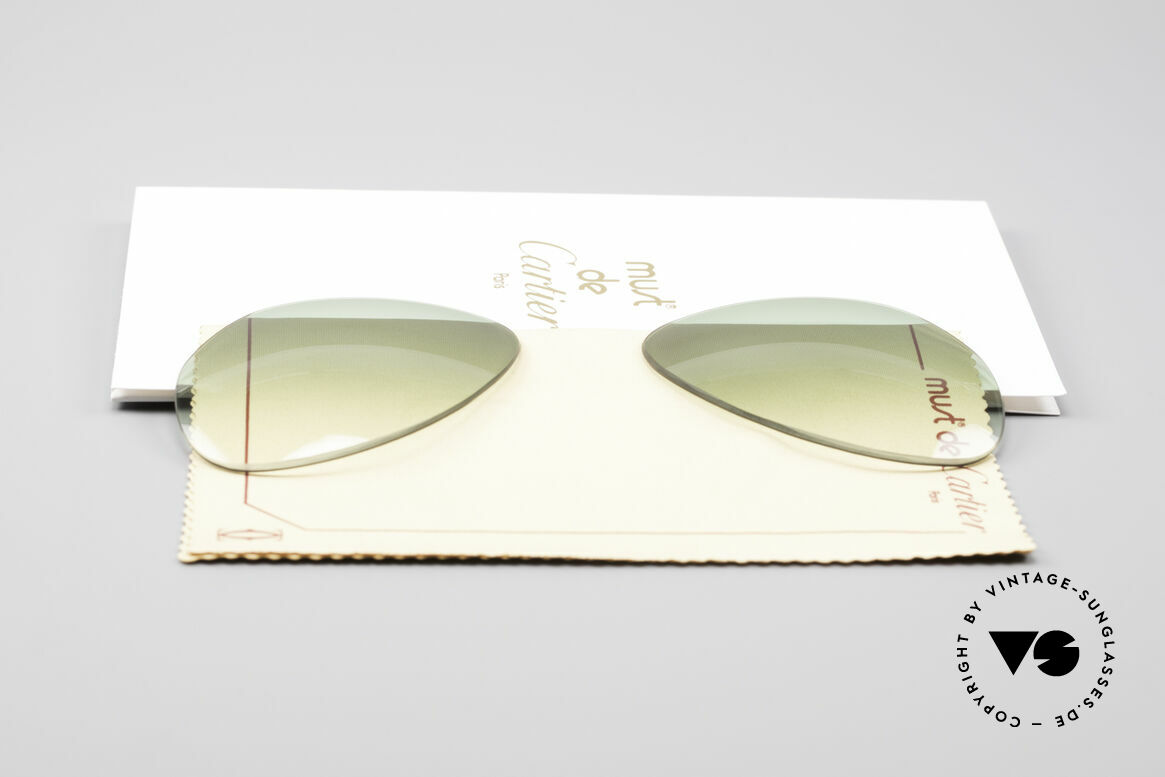 Cartier Vendome Lenses - M Sun Lenses Green Gradient, made by our optician (thus, brand-new and scratch-free), Made for Men and Women