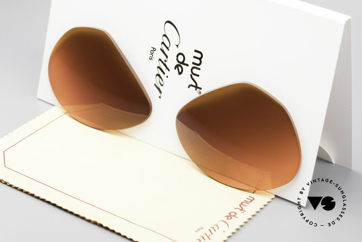 Cartier Vendome Lenses - L Sun Lenses Sunset Gradient, new CR39 UV400 plastic lenses (for 100% UV protection), Made for Men