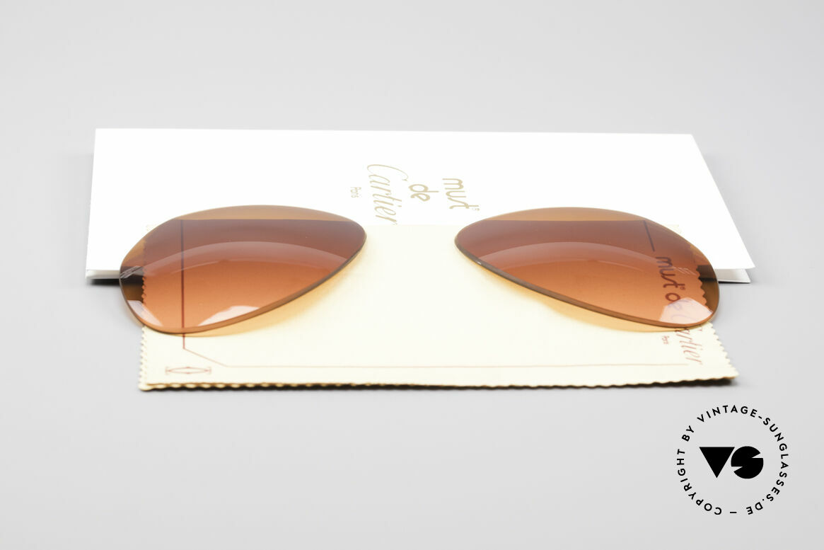 Cartier Vendome Lenses - L Sun Lenses Sunset Gradient, made by our optician (thus, brand-new and scratch-free), Made for Men