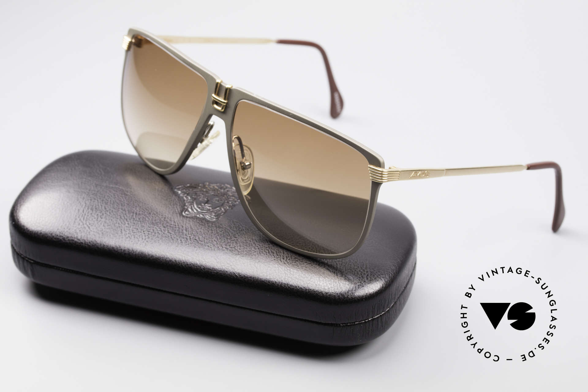 AVUS 210-30 West Germany Sunglasses, NO RETRO shades, but true vintage! (incl. Versace case), Made for Men