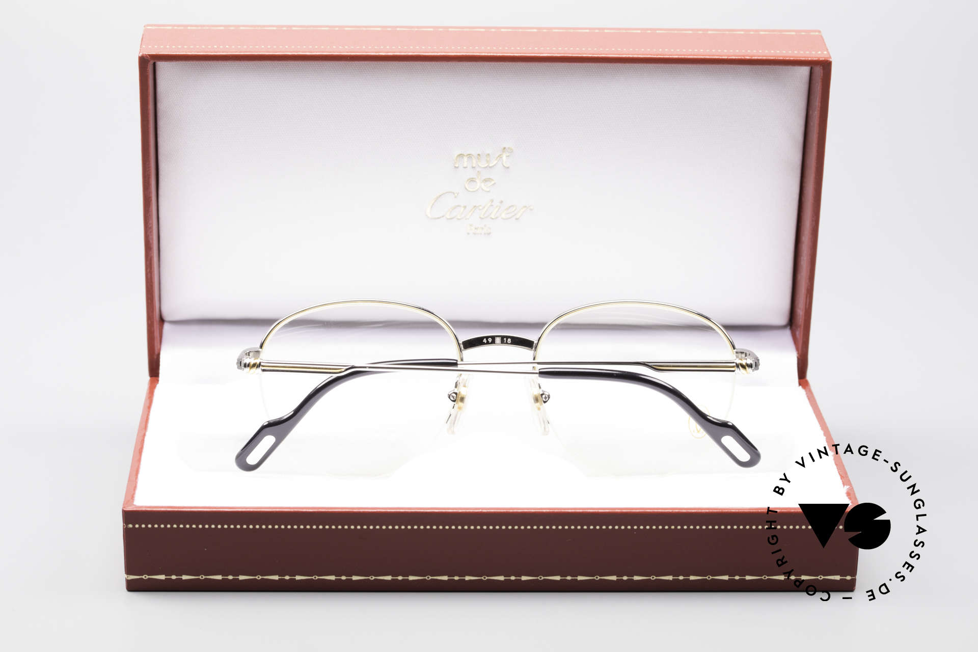 4f103710fcbcd Glasses Cartier Colisee Round Luxury Platinum Frame