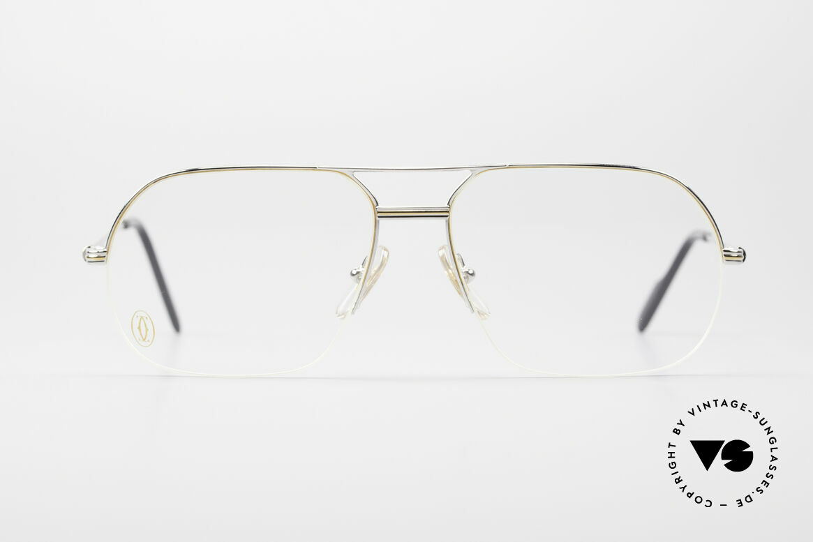 Cartier Orsay Luxury Platinum Eyeglasses, model of the 'Semi-Rimless' Collection by CARTIER, Made for Men