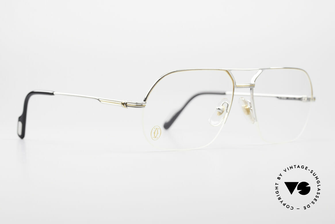 Cartier Orsay Luxury Platinum Eyeglasses, luxury Cartier half-frame, -lightweight and flexible, Made for Men