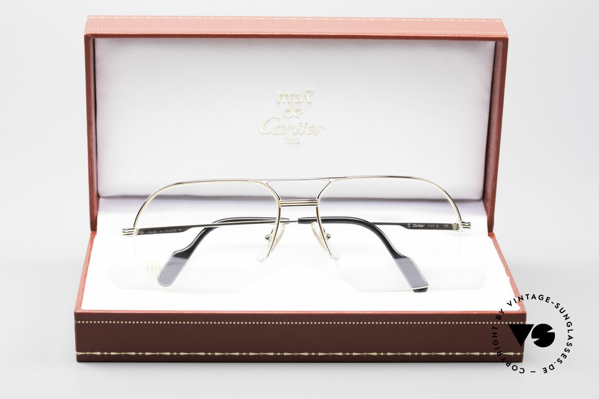 Cartier Orsay Luxury Platinum Eyeglasses, costly 'Platine Edition' (frame with platinum finish), Made for Men