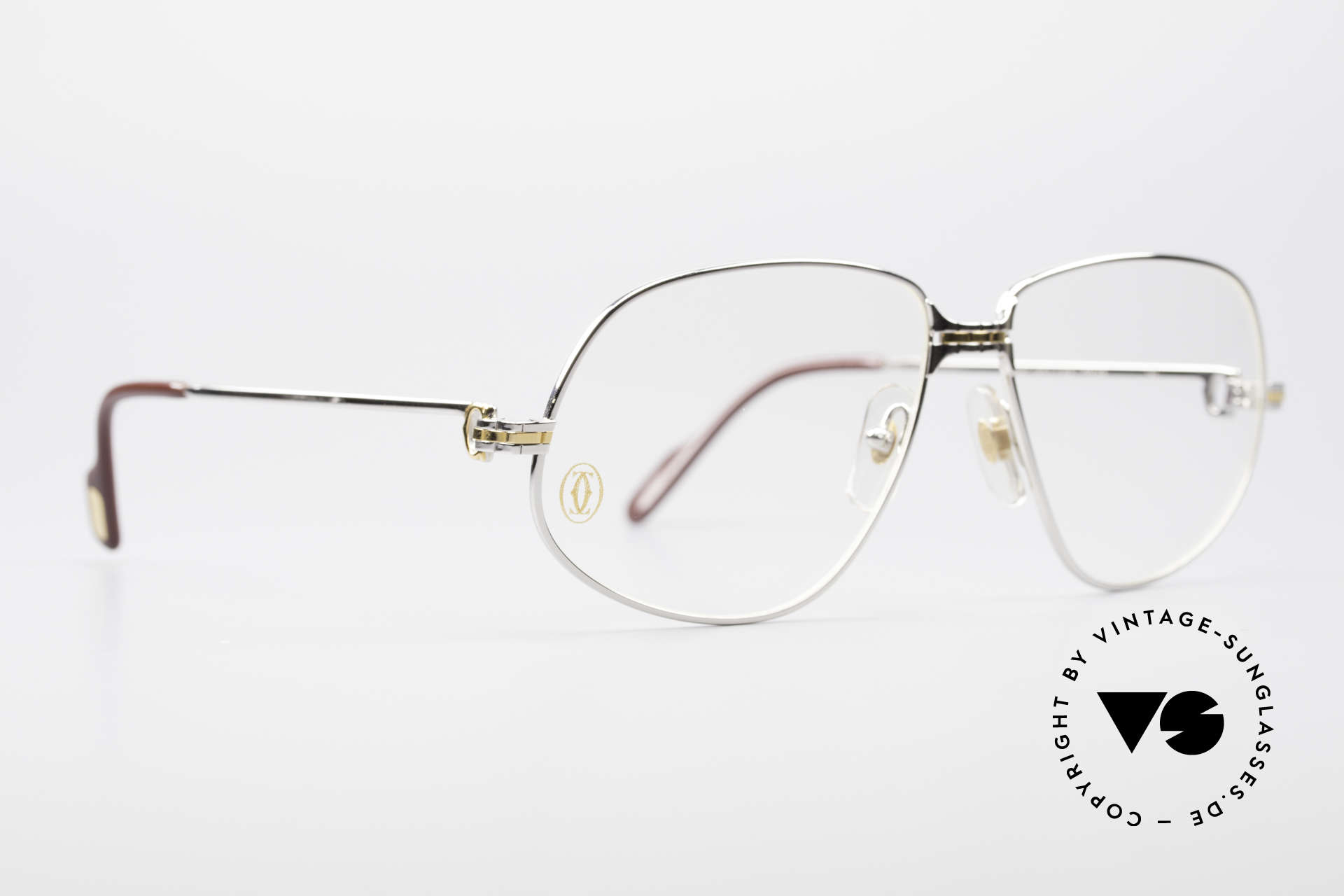 """Cartier Panthere G.M. - L Rare Platinum Finish Frame, mod. """"Panthère"""" was launched in 1988 and made till 1997, Made for Men"""