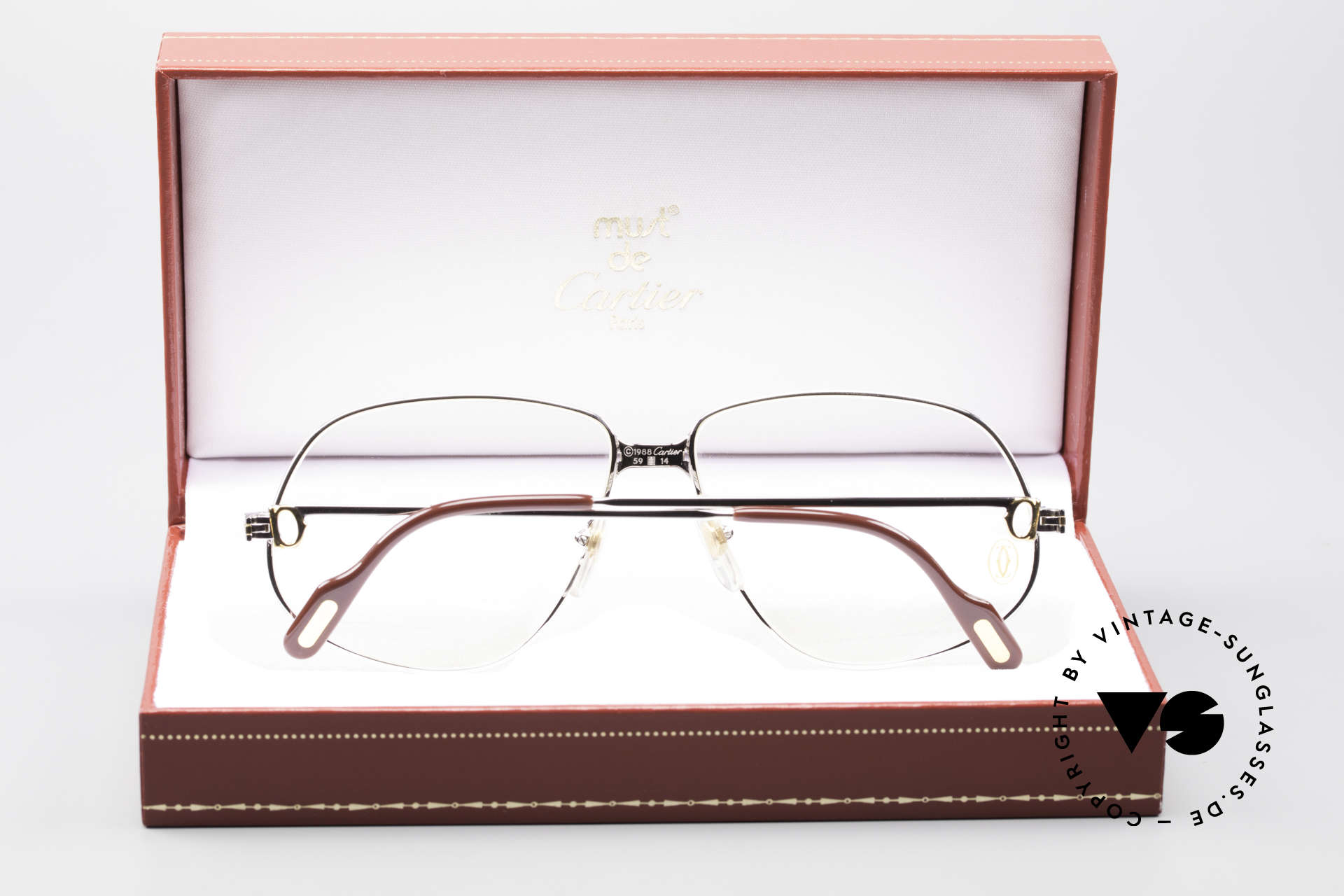 c54d5ea1bee Glasses Cartier Panthere G.M. - L Rare Platinum Finish Frame ...