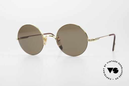 Cartier Mayfair Luxury Round Sunglasses Details