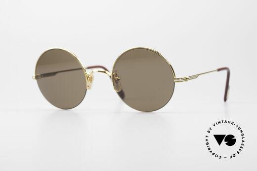 Cartier Mayfair - M Luxury Round Sunglasses Details