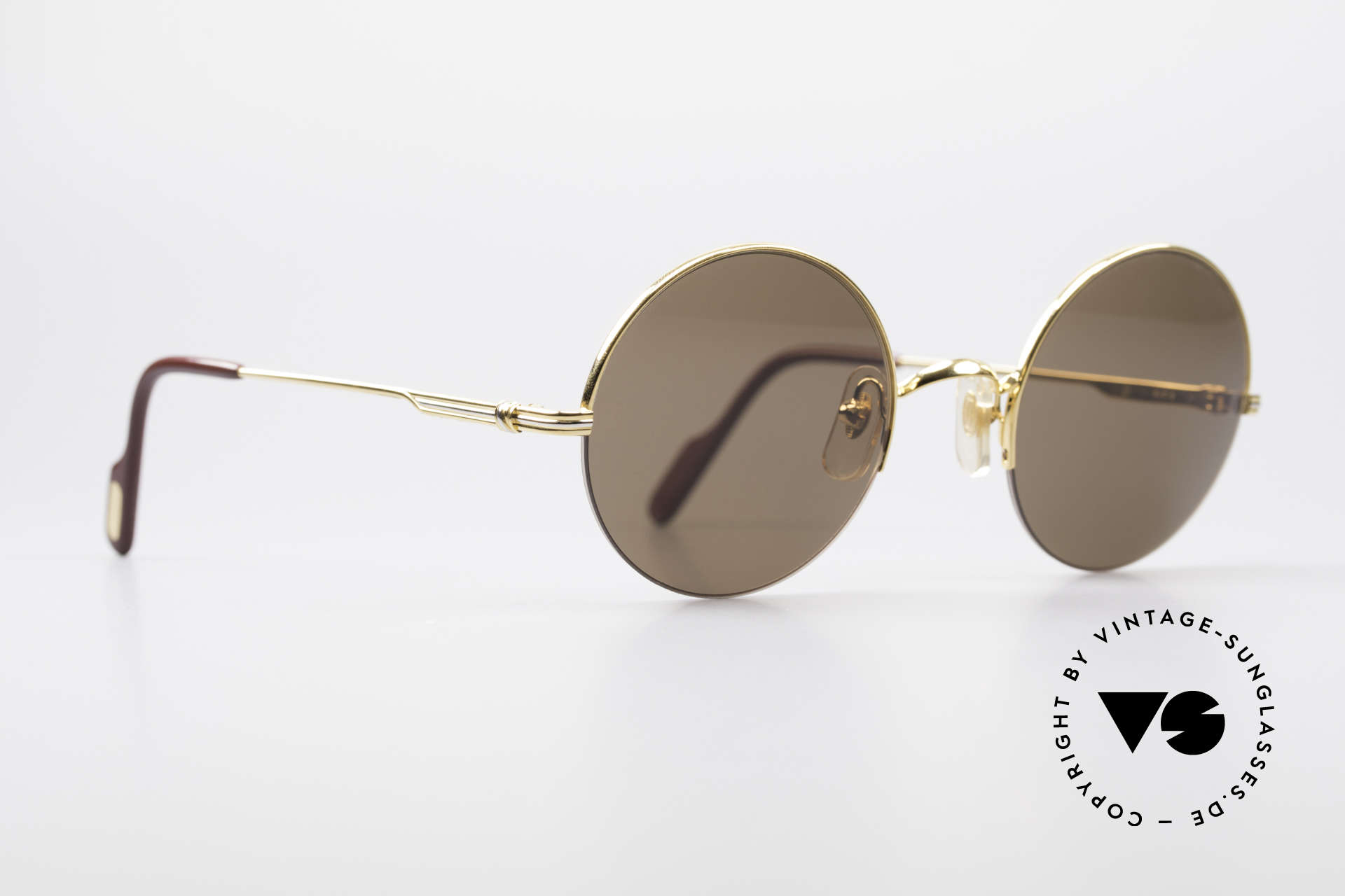 Cartier Mayfair - M Luxury Round Sunglasses, exclusive design - simply timeless and unisex, Made for Men and Women