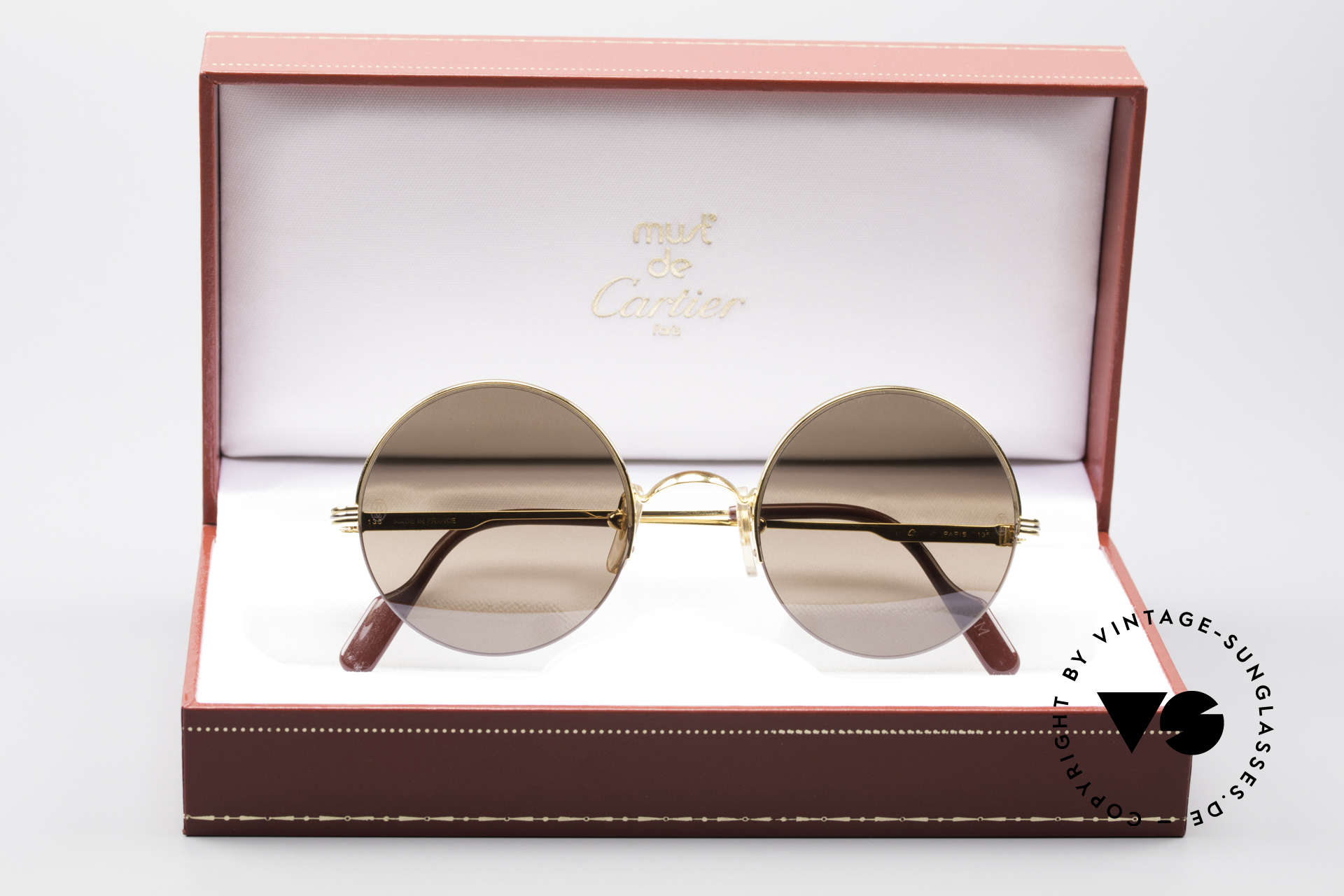 Cartier Mayfair - M Luxury Round Sunglasses, with original Cartier box, case and certificate, Made for Men and Women