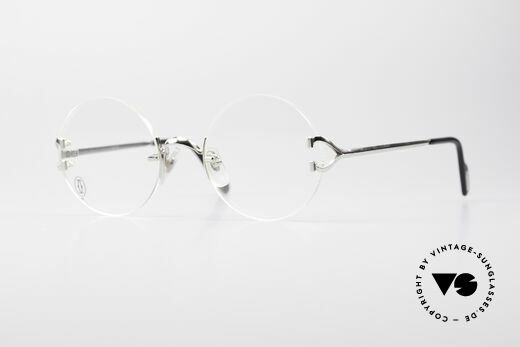 Cartier Madison Rimless Round Platinum Frame Details